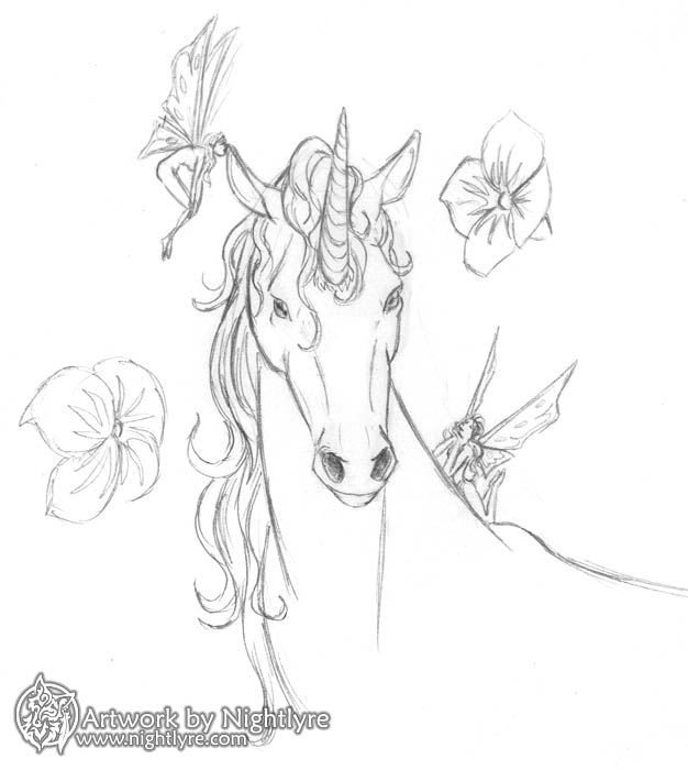 Gallery For gt Unicorn Face Drawing