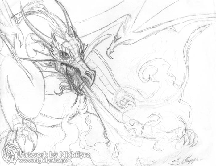 Easy Drawings Of Dragons Blowing Fire fire breathing dragon drawings ... Drawings Of Dragons Blowing Fire For Kids
