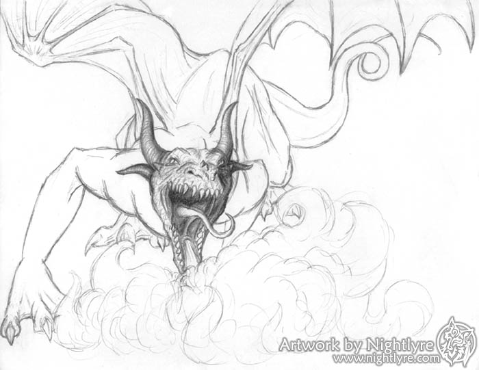 how to draw a realistic dragon breathing fire