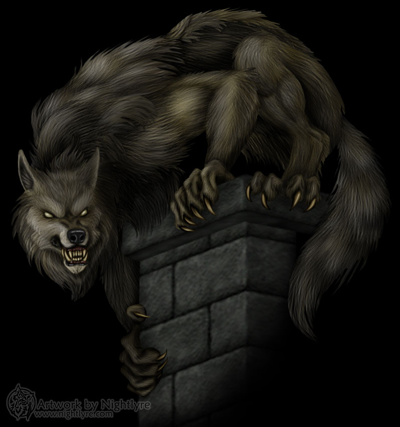werewolf artwork, werewolf art, art,  Animal art, 3D art