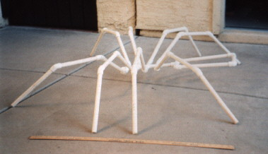 Terry PVC skeleton front view & Nightlyreu0027s Realm: Halloween: Terry the Giant Spider